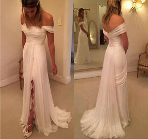 Image Is Loading Beautiful Simple Beach Wedding Dress Western Country Boho