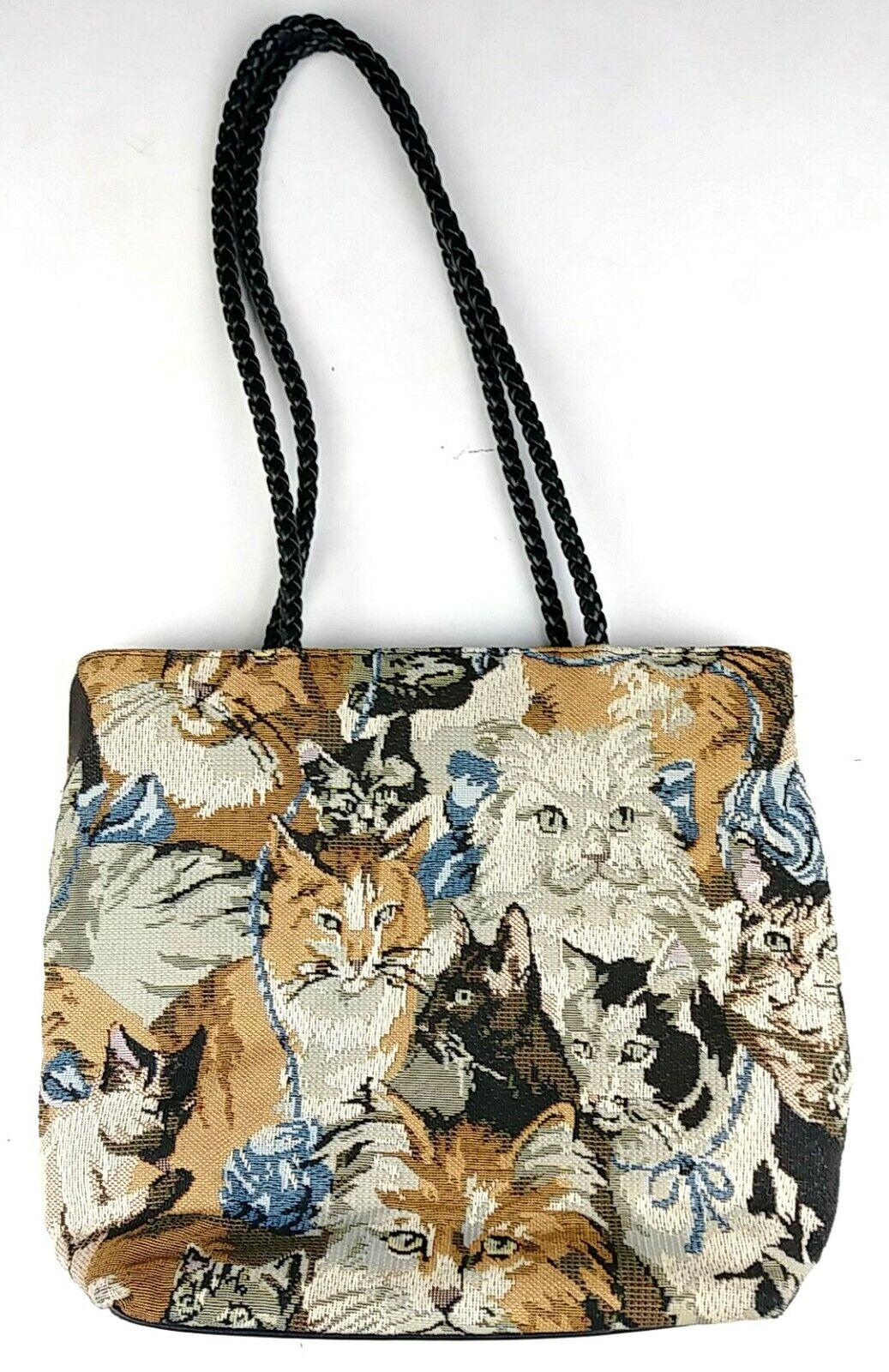 Bueno Cat Kittens Tapestry Shoulder Bag - image 1