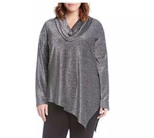 6acf1e714baf7 Karen Kane Plus Size Cowl Neck Sparkle Top. Size 3X.  124.00 ...