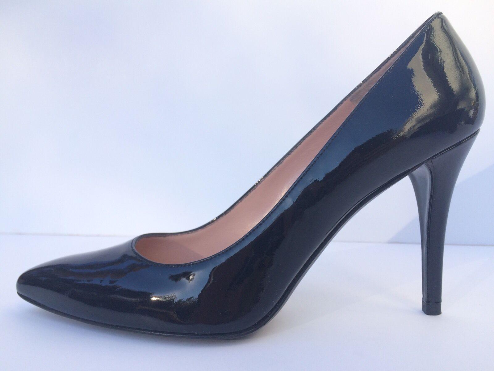 negozio outlet Stuart weitzman donna toe power nero nero nero Patent Peather Pumps heels Dimensione 8.5  qualità di prima classe