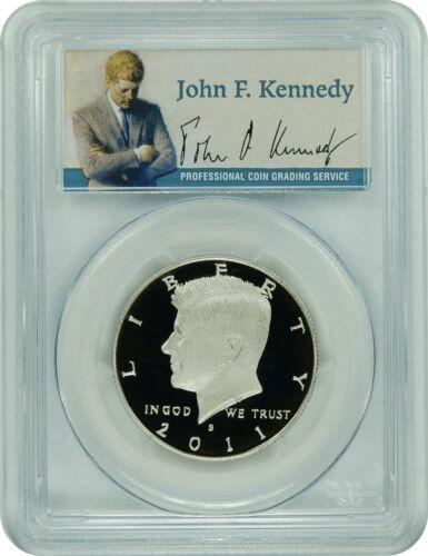 2011-S PCGS PR70DCAM Kennedy Half Dollar Presidential Label
