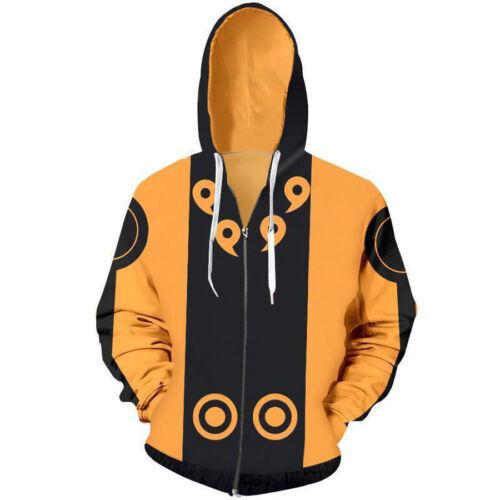 Naruto0 Hokage Hoodie Sweatshirt Uzimaki KURAMA Uchiha Sasuke Hooded Jacket Coat