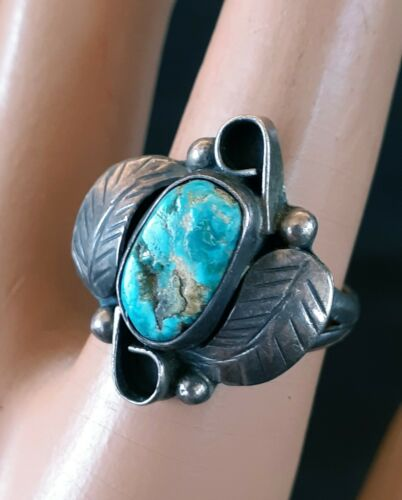 Sterling Silver Faux Turquoise and Citrine Ring Size 7 12