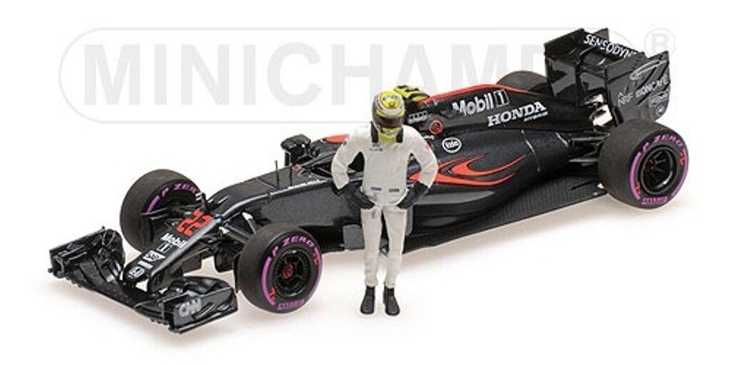MINICHAMPS 530 164022 McLaren F1 voiture modèle + J Bouton figure Final GP 2016 1 43