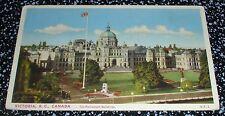 The Parliament Buildings, Victoria B.C. Postcard Canada