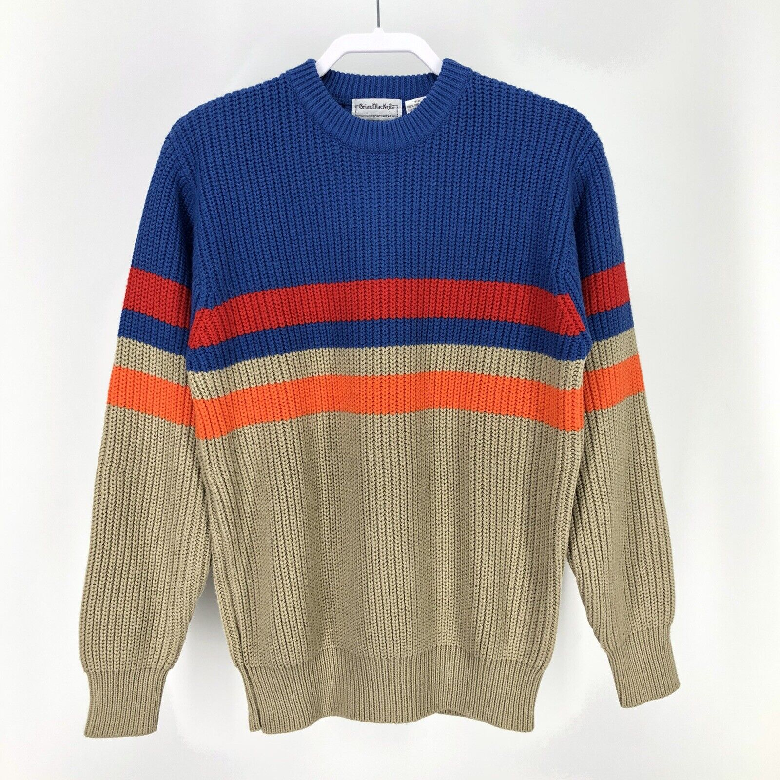 70s Crew Neck Sweater Burgandy and Gray Acrylic Pullover Retro Unisex Ski Sweater Size XL Vintage Men/'s Sweater