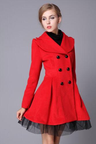 Women Wool Coats 2018 Autumn Winter Double-breasted Jacket Slim Female Outerwear