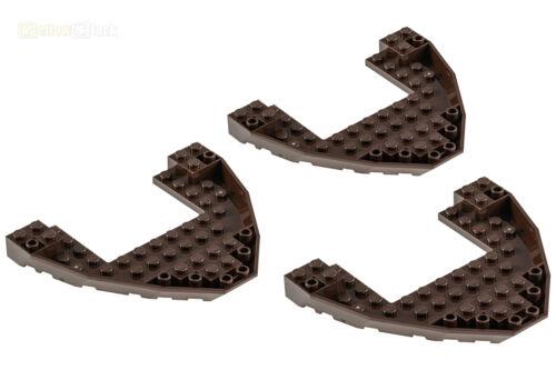 3x LEGO ® 47404 10x12x1 pirati Boots-scafo della nave-Bug Marrone Scuro Nuovo