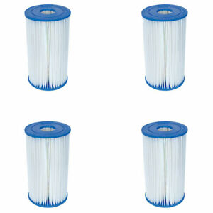 Details about Bestway Swimming Pool Filter Replacement Cartridge Type IV or  Type B (4 Pack)