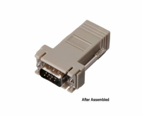 DB9 Male to RJ45 Female Modular Adapter Connector 8P8C Serial RS232 Lot 10 Pack