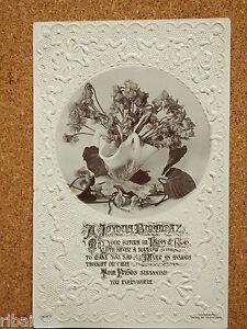 Vintage-Postcard-A-Joyus-Birthday-Vase-of-Flowers-Beagles-Co-1911