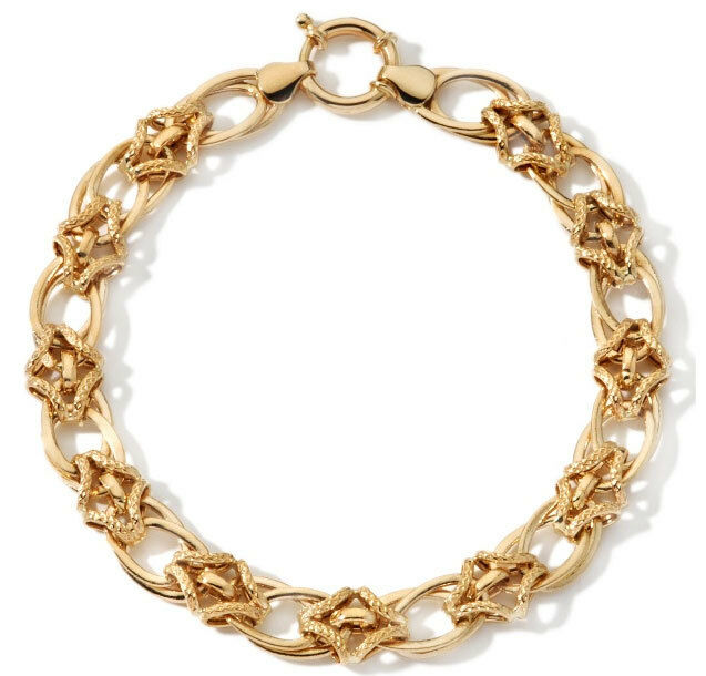 Polished Textured Staggered  Bracelet 14K Yellow gold