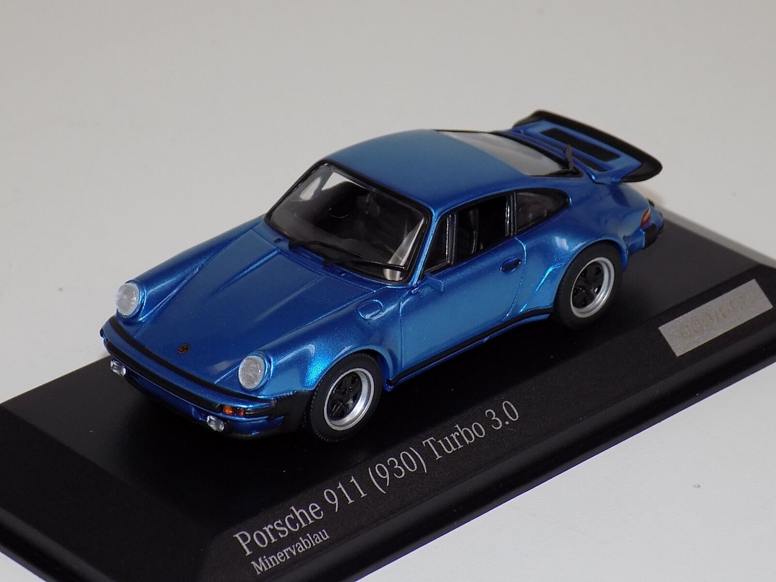 1 43 Minichamps PORSCHE 911 (930) 3.0 Turbo Metálico Azul CA04316030