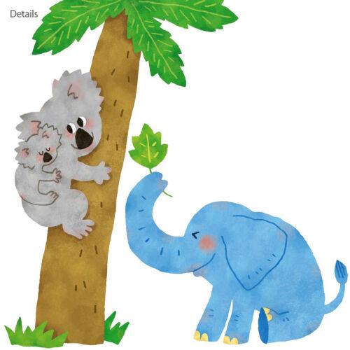 Wandsticker Dschungeltiere Giraffe Löwe Koala Affen Palme Tukan Afrika