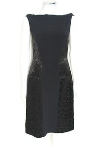Roland-Mouret-Black-Leopard-jacquard-print-shift-dress-UK-12