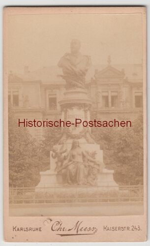 (F11069) Orig. Foto Karlsruhe, Scheffel-Denkmal, Foto a. Pappe v. Atelier Chr. M