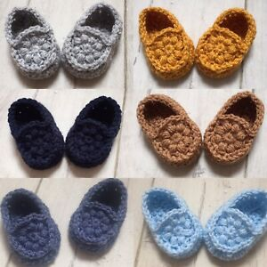 Handmade Crocheted/Knitted Baby Booties