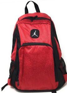 fba1c78cd6fb Nike Air Jordan Backpack Laptop Sleeves Side Pockets Gym Red 9A1456 ...