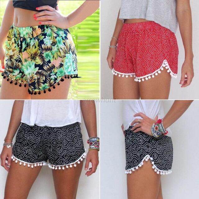 NEW Women Lady Sexy Summer Beach Floral Casual Shorts Hot Pants High Waist  Mini