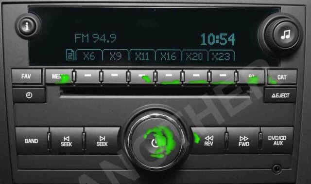 Navigation Radio Button Repair Decals Stickers For 03-05 GM Cadillac Escalade Hu