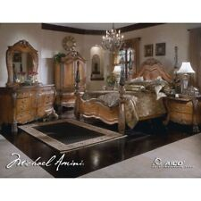 AICO By Michael Amini Eden Series Solid Wood King Size Bedroom Set