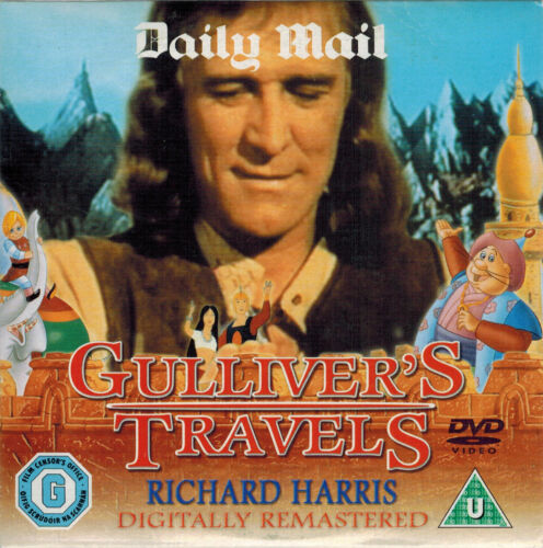 1 of 1 - CHILDREN'S CLASSIC = GULLIVER'S TRAVELS star RICHARD HARRIS = VGC PROMO CERT U