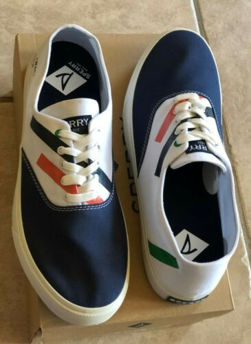 SPERRY Captains CVO Sneakers Navy White Shoes Men 9.5 10 10.5 11 12 NEW