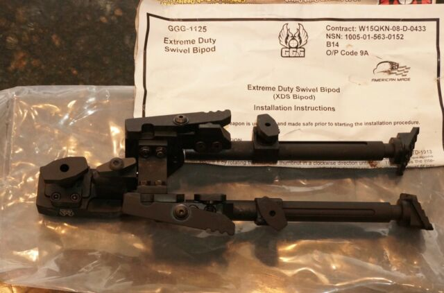 GGG-1125 9.5in Max Height GG/&G Extreme Duty Swivel Standard Bipod XDS
