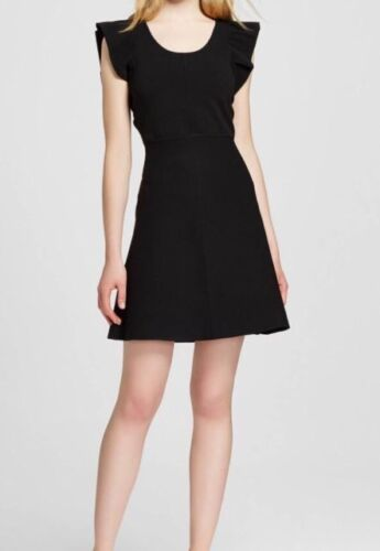 Victoria Beckham for Target Black Ruffle Sleeve Sweater Dress XS S M 2X 3X NWT
