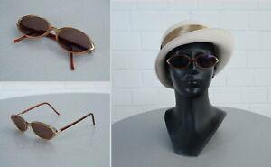 Diplomatisch Edle Designer Sonnenbrille Vici Design Sunglasses Frame Braun Türkis Vintage