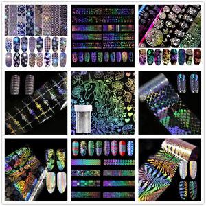 Holographique-Nail-Foil-Transfert-Laser-Nail-Art-Autocollants-DIY-Manucure-Decor