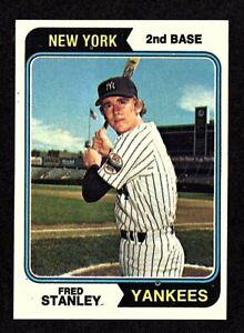 1974-Topps-423-Fred-Stanley-New-York-Yankees-Baseball-Card-EX-MT