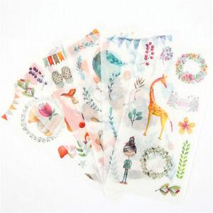 6pcs-forest-animals-Adhesive-Sticker-DIY-Decor-Diary-Stationery-Sticker-kid-Gift