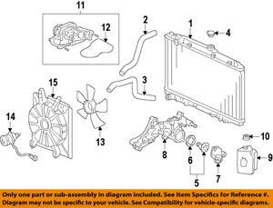 image is loading honda-oem-09-15-pilot-radiator-cooling-fan-