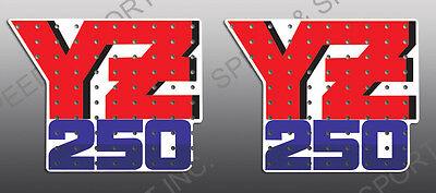 YAMAHA 1990 YZ80 TANK SHROUD DECALS GRAPHICS WICKED TOUGH VERSION