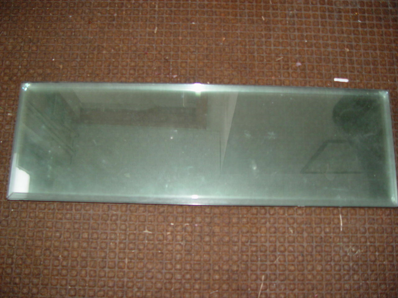 7 - Clear 9 x 28  Beveled Glass Panels