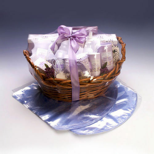 SELECT QTY Gift Basket PVC Heat Shrink Wrap Film 26 x 24 Fitted Dome Bag 26x24