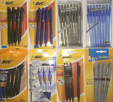 Bic Pens Griprollergelballpointbu3 Blackblueredgreen Colour Ink Xmas Gift
