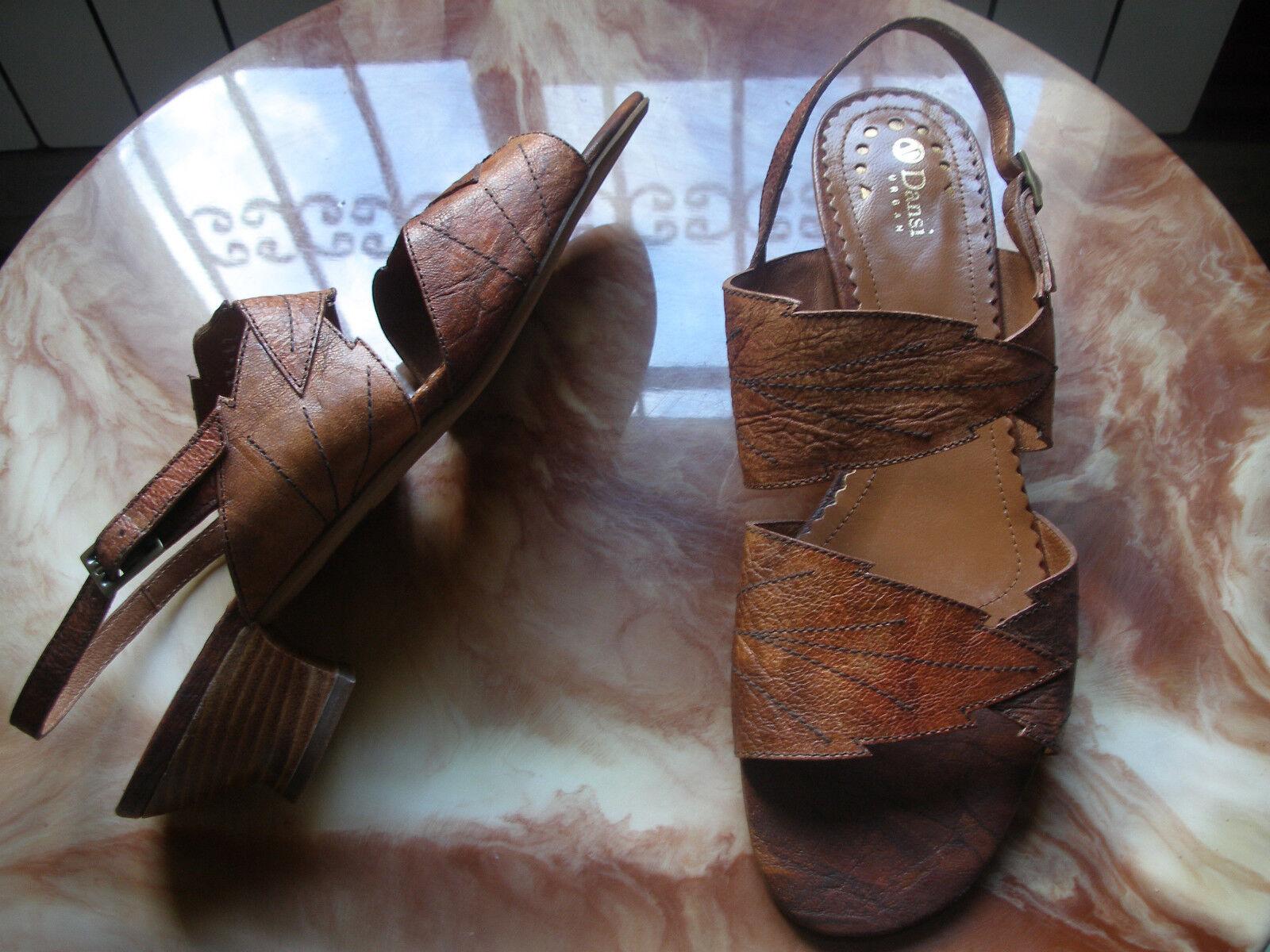 Nº 42 REBAJAS Dansi preciosas preciosas preciosas sandalias Piel Natural, mujer talla   marrón hojas b46924