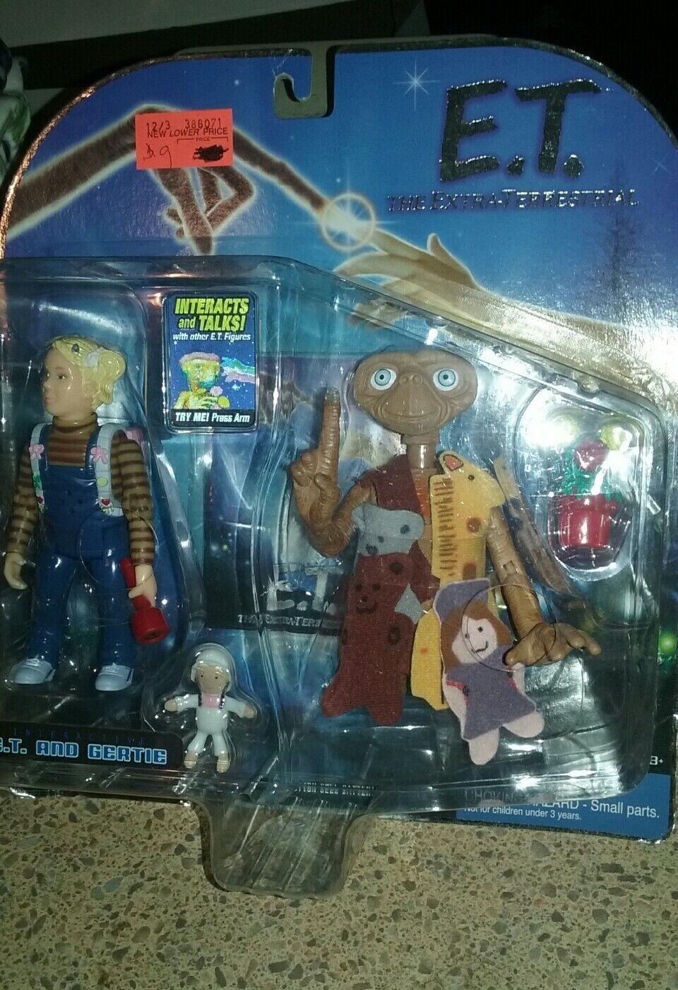 NY 2001 E.T. DET EXTRA -TERRESTRIELLA INTERAKTIVA leksak E.T. OCH GERTIE - HANDLINGSFAKTURET