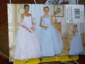 Oop-Butterick-5901-girls-formal-dress-tulle-skirt-stole-sz-12-16-NEW
