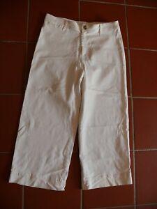 H-amp-M-weite-7-8-Jeans-Bootcut-creme-weiss-46-neuwertiger-Zustand