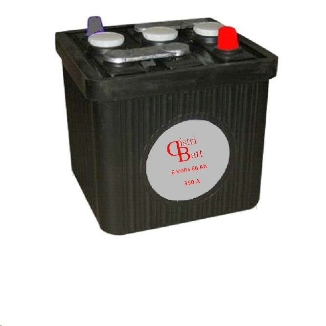Batteria 6 Volt 66 Ah Nero 2Cv4CVDauphine Collezione