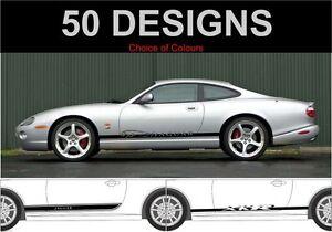 Jaguar-Xk-Xkr-Xk8-Seitenstreifen-Aufkleber-Sticker-Beidseitig