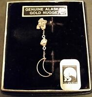 Single Gold Nugget Earring Mined In Hope Alaska. Bjw's Special Design. Lot 718