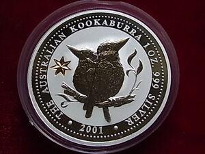 Australia-2001-1oz-Silver-Kookaburra-Federation-Star-Privy-mark-BU