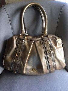 7c749b148978 Image is loading Authentic-Burberry-Gold-Leather-Handbag-Satchel-Shoulder- Bag