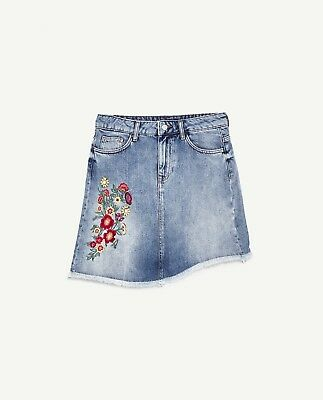 Zara Bejewelled Embroidered Denim Skirt-ref 5862/155-size Xs,s-nwt Clothing, Shoes & Accessories Women's Clothing Tireless So Cute!!