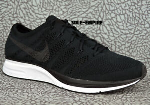 new concept 889d9 2d0fc Image is loading Nike-Flyknit-Trainer-AH8396-007-Black-White-Mens-