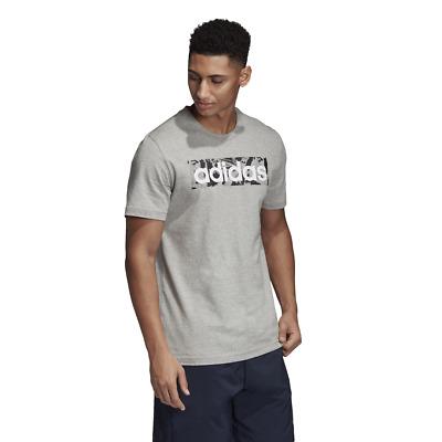 Adidas Hommes T Shirt de Course Logo Coffret Graphique Mode Entraînement Gris   eBay